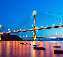 Ting Kau Bridge in Hong Kong by kawing921