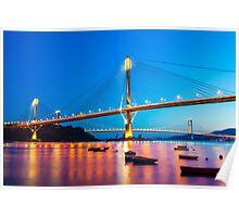 Ting Kau Bridge in Hong Kong Poster