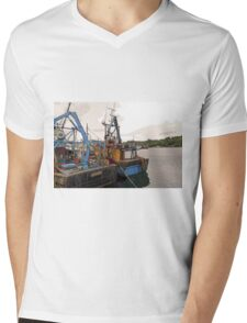 Lazy Days, Stornoway Harbour, Isle of Lewis Mens V-Neck T-Shirt