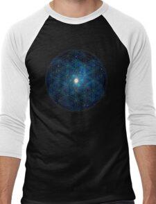 Sacred Geometry: Flower Of Life - Cosmos II Men's Baseball ¾ T-Shirt