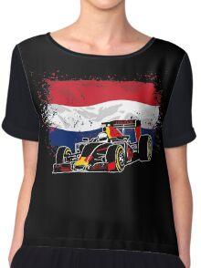 Formula 1 Racing Chiffon Top