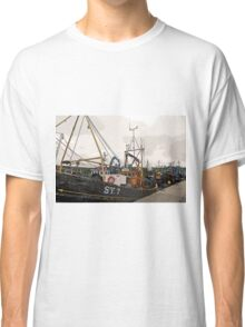 Fishing Boats at Harbour, Stornoway, Isle of Lewis Classic T-Shirt