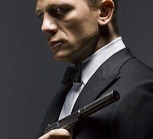 Daniel Craig as James Bond by violetraymedia