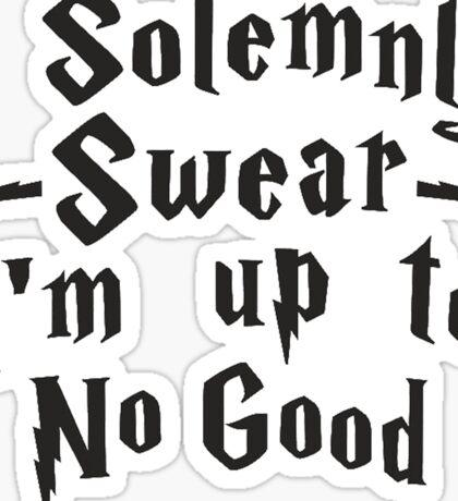 I Solenmnly Swear Sticker