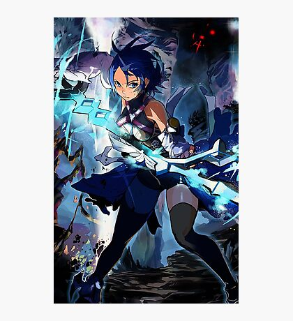 Aqua Anime Photographic Print