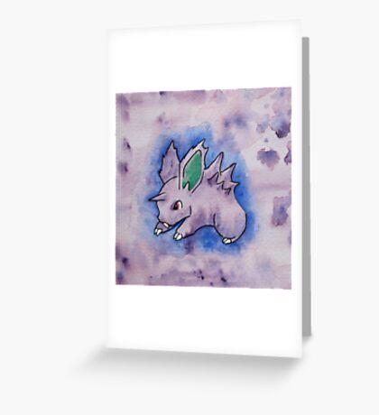 Nidoran [watercolour] Greeting Card