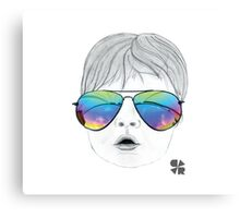 Kid with Glasses Canvas Print
