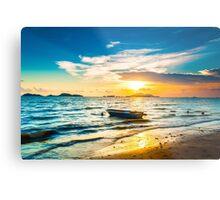 Sunset along the coast Metal Print