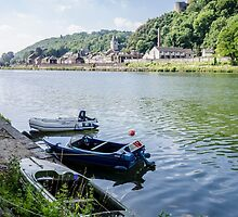 Boats at Dinant by Sue Martin