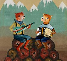 Foresters - Bear Duo by Paper Sparrow