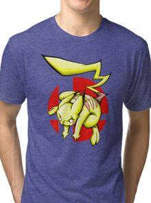 Pika smash bros Tri-blend T-Shirt