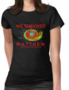 we survived hurricane matthew Womens Fitted T-Shirt