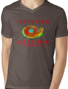I survived hurricane matthew Mens V-Neck T-Shirt