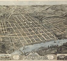 Vintage Pictorial Map of Knoxville (1871) by BravuraMedia
