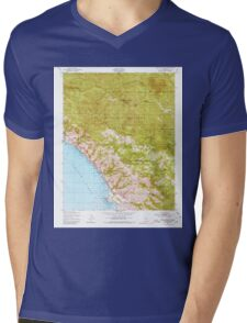 USGS TOPO Map California CA Burro Mountain 288697 1949 24000 geo Mens V-Neck T-Shirt