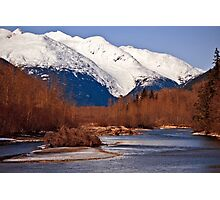 Taiya river in Winter Photographic Print