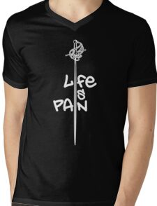 Life Is Pain Mens V-Neck T-Shirt