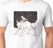 Big White Fluffy Dog Unisex T-Shirt