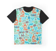 Colorful Scientist Pattern Graphic T-Shirt