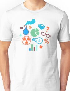 Colorful Scientist Pattern Unisex T-Shirt
