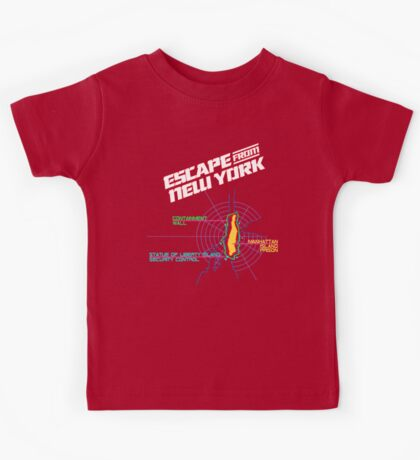 ESCAPE FROM NEW YORK - ISLAND MAP (1) Kids Tee