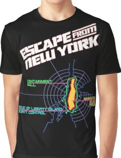 ESCAPE FROM NEW YORK - ISLAND MAP (1) Graphic T-Shirt