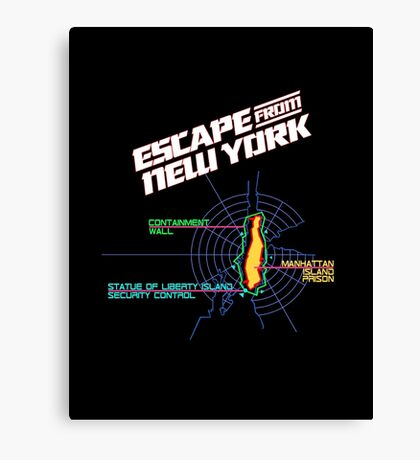 ESCAPE FROM NEW YORK - ISLAND MAP (1) Canvas Print