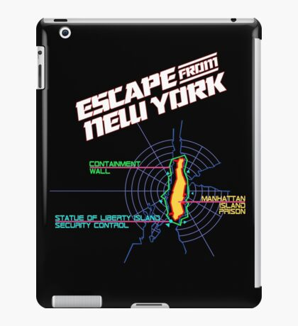 ESCAPE FROM NEW YORK - ISLAND MAP (1) iPad Case/Skin