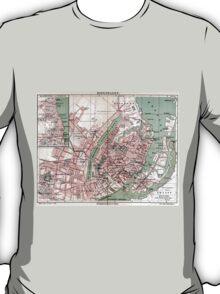 Vintage Map of Copenhagen Denmark (1888) T-Shirt