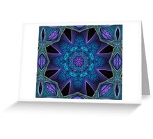 Fractal mandala Greeting Card