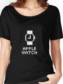 Apple Watch - White (for dark tees) Women's Relaxed Fit T-Shirt