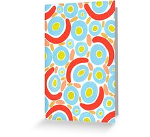 Bold and bright with a touch of the 80's Greeting Card