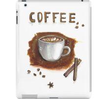 Cup of coffee with cinnamon sticks iPad Case/Skin