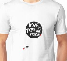 Love You to the Moon - Black Unisex T-Shirt