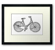 Vintage American Bicycle Diagram Framed Print