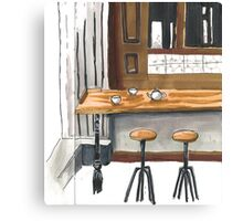 Little cafe Canvas Print