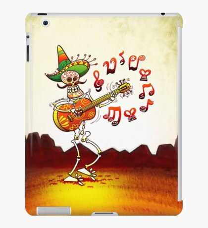 Mexican Skeleton Playing Guitar iPad Case/Skin