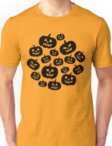 Contrast jack-o'-lantern pattern Unisex T-Shirt