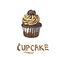 Cupcake for breakfast Photographic Print