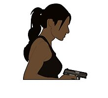 Shaw - Girl with a gun Photographic Print