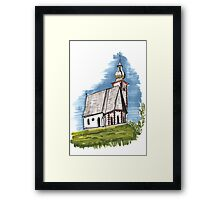 Old church sketch Framed Print