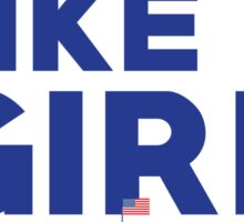 Run Like A Girl - Hillary Clinton Sticker