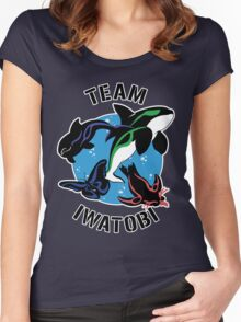 Team Iwatobi Variant Women's Fitted Scoop T-Shirt