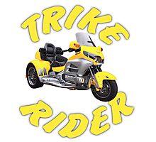 Trike Rider in Yellow Photographic Print