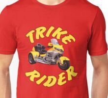 Trike Rider in Yellow Unisex T-Shirt