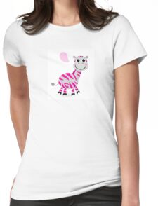 Cute pink and grey Zebra : new cute illustration in our Shop! Womens Fitted T-Shirt