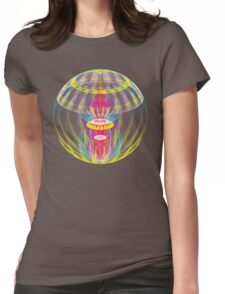 Alien sphere fractal fantasy Womens Fitted T-Shirt