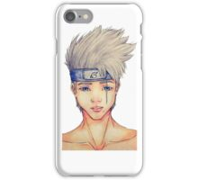 Kakashi _ Real face water color iPhone Case/Skin