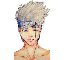 Kakashi _ Real face water color Photographic Print