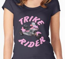 Trike Rider in Pink Women's Fitted Scoop T-Shirt